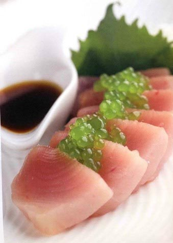 Albacore%20Tuna%20Sashimi%20with%20Citrus-Soy%20Dressing%20and%20Cucumber%20Pearls[2]